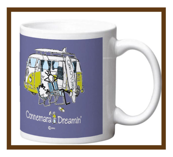 Porcelain mug with Connemara Dreamin design wrap.