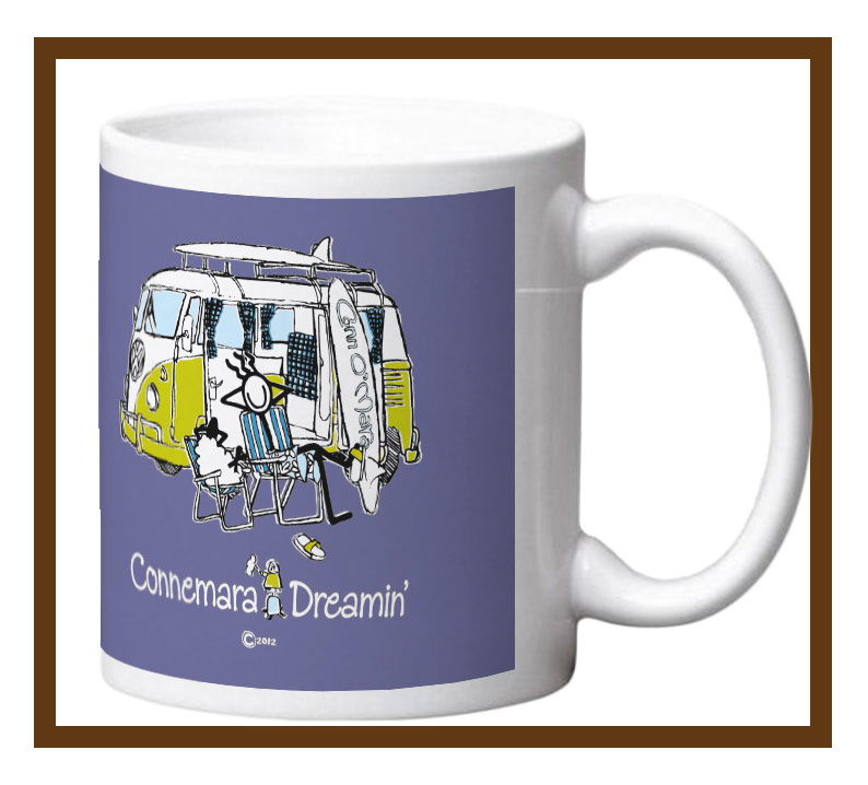 Porcelain mug with Connemara Dreamin design wrap.