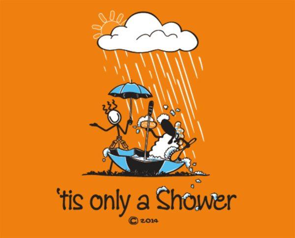 "Connemara clothing ""tis only a shower"" t-shirt"
