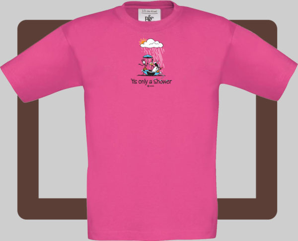 Our kids connemara fuschia t-shirts are bright and fun for kids of all ages   T-shirts from Conn O'Mara for Connemara kids.