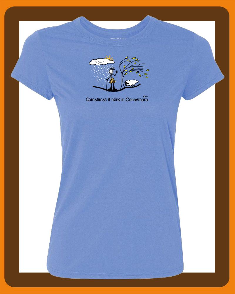 Womens connemara T-shirts by Conn O'Mara | T-shirts, clothing from Connemara | Womens t-shirt from the Back with Conn O'Mara Logo at top.